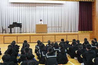 12月3日(火) 朝礼